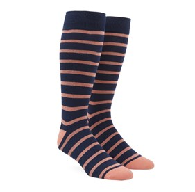 Melon Trad Stripe mens socks