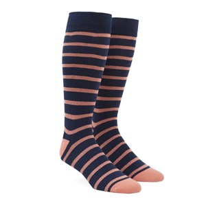 trad stripe melon dress socks