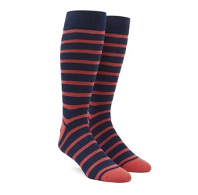 Persimmon Red Trad Stripe mens socks