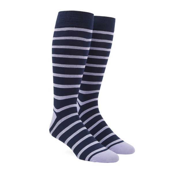 Lilac Trad Stripe Socks