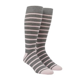 Blush Pink Trad Stripe mens socks
