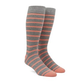 Peach Trad Stripe mens socks