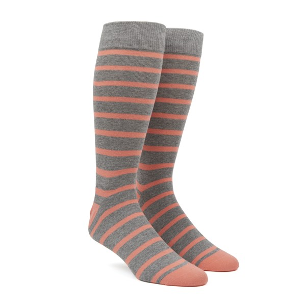 Peach Trad Stripe Socks