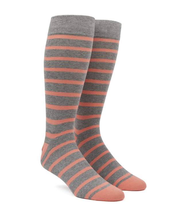 Trad Stripe Peach Socks