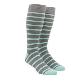Trad Stripe Mint Men's Socks