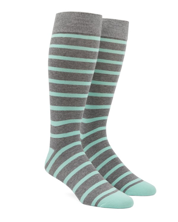 Trad Stripe Mint Socks