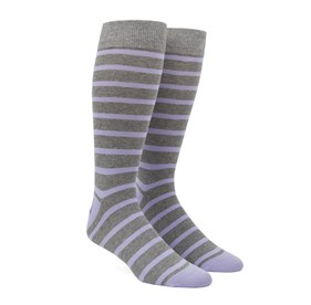 Lavender Trad Stripe mens socks