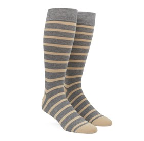 Light Champagne Trad Stripe mens socks