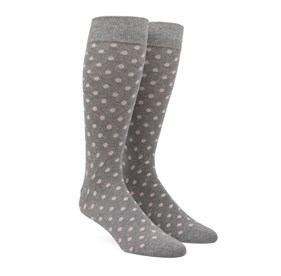 Blush Pink Circuit Dots mens socks