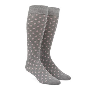 Circuit Dots Blush Pink Dress Socks