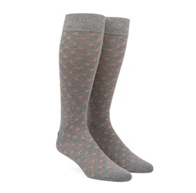 Peach Circuit Dots mens socks