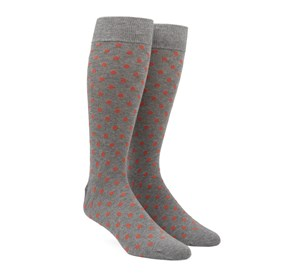 Coral Circuit Dots mens socks