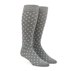 Mint Circuit Dots mens socks
