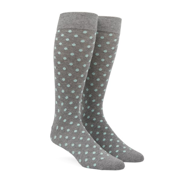 Mint Circuit Dots Socks