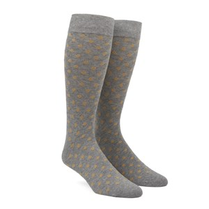 circuit dots champagne dress socks