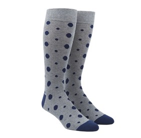 Grey Alternating Dots mens socks