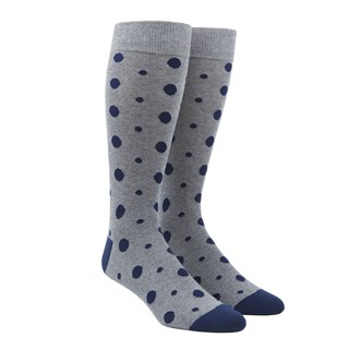 alternating dots grey dress socks