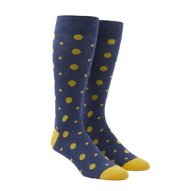 Yellow Alternating Dots mens socks
