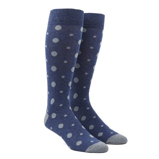 alternating dots navy dress socks