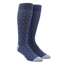 Navy Geo Key mens socks