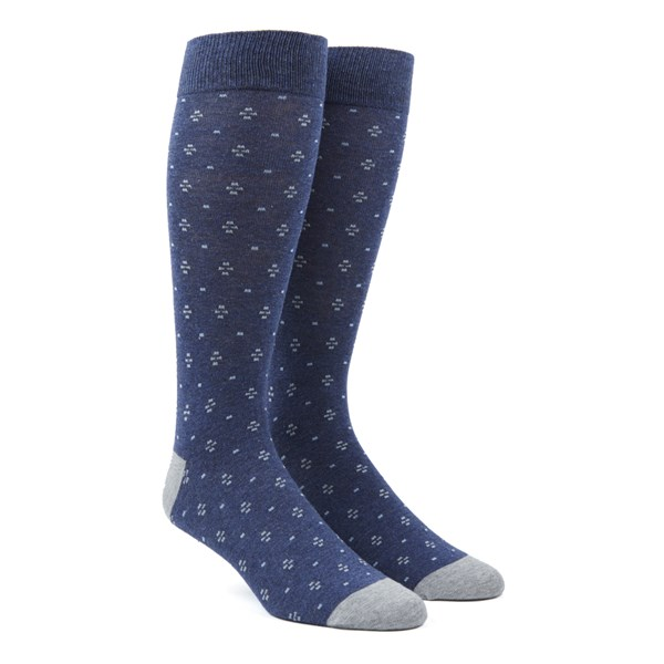 Navy Geo Key Socks