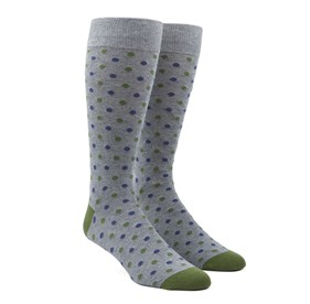Clover Green Jpl Dots mens socks