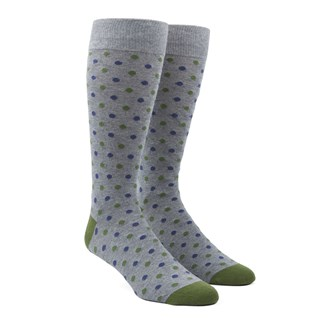 jpl dots clover green dress socks