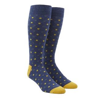jpl dots navy dress socks