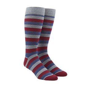 Red Varios Stripe mens socks