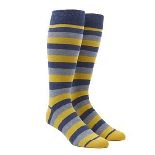 Varios Stripe Yellow Dress Socks