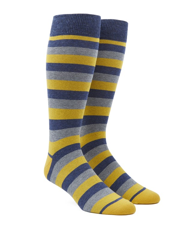 Varios Stripe Yellow Socks