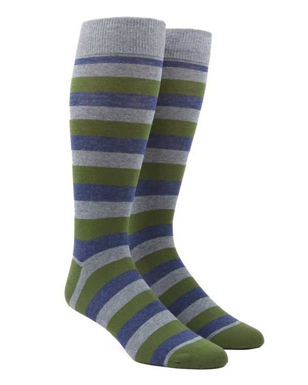 Varios Stripe Clover Green Socks