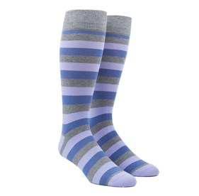 Lavender Varios Stripe mens socks