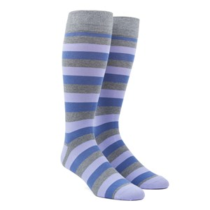 varios stripe lavender dress socks