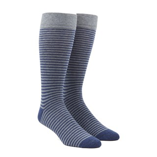 Thin Stripes Navy Dress Socks