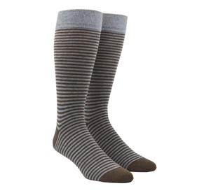 Brown Thin Stripes mens socks
