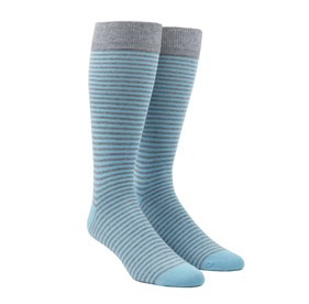 Aqua Thin Stripes mens socks
