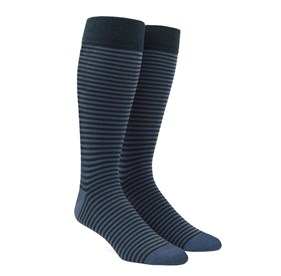 Thin Stripes Slate Blue Men's Socks