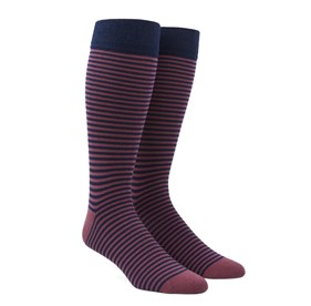 Dusty Rose Thin Stripes mens socks