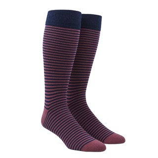 Thin Stripes Dusty Rose Dress Socks