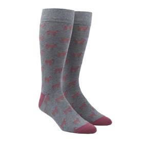 Dog Days Dusty Rose Men's Socks