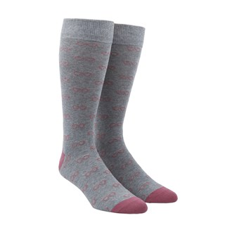 glasses dusty rose dress socks