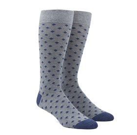 Navy Diamonds mens socks