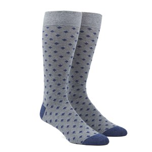 diamonds navy dress socks