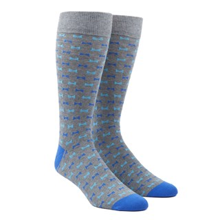Bow Tie Turquoise Dress Socks