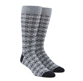 Black Bow Tie mens socks