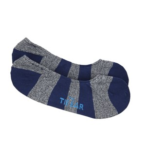 varsity stripe no-show classic navy dress socks