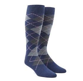 Argyle Pink Men's Socks