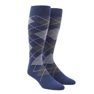 Argyle Pink Dress Socks