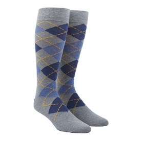 Blues Argyle mens socks